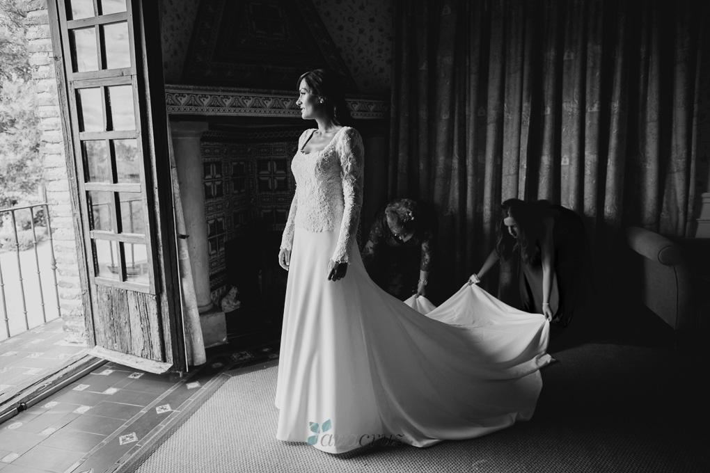 Fotografía de boda :: Cristina & Jorge :: Madrid anacruz240bn-9917-1