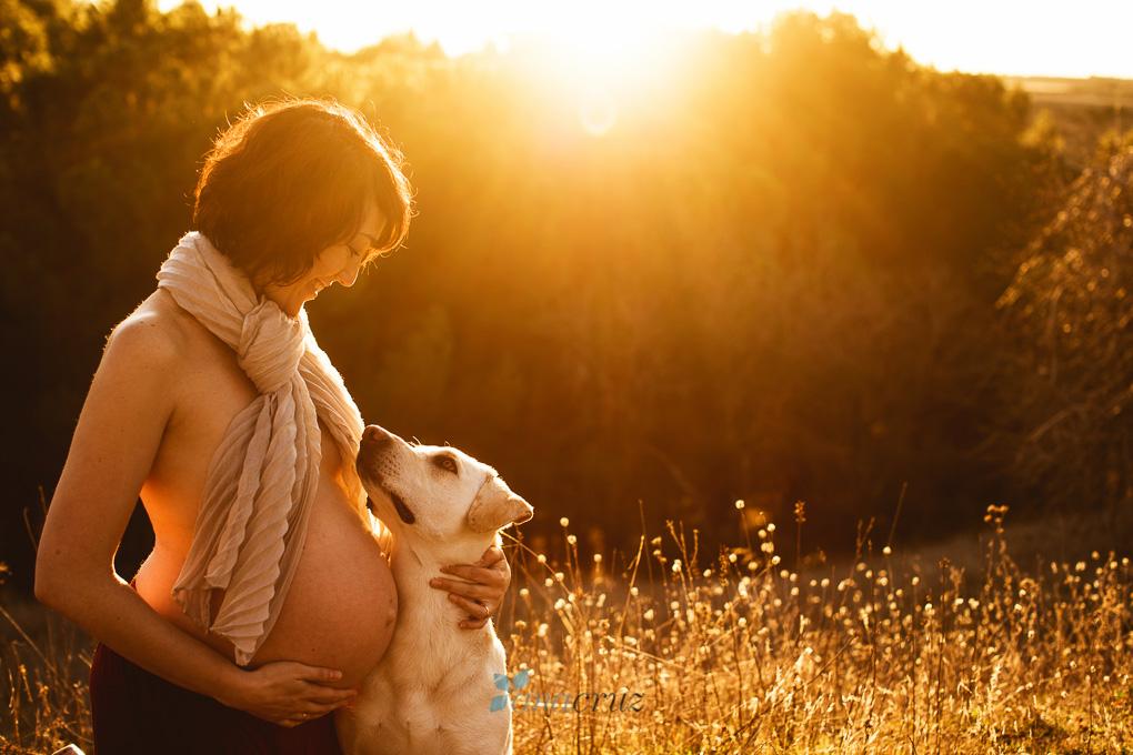 Fotografia de embarazo :: Un embarazo familiar (mascota incluída) ANA5798