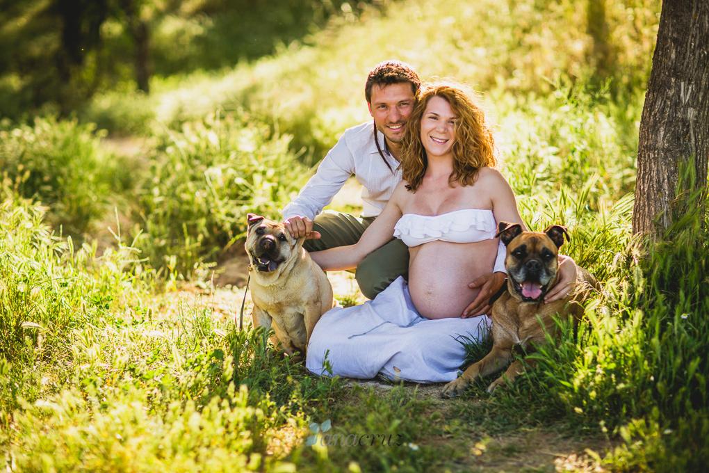 Fotografía de embarazo :: Van a ser familia numerosa ANACRUZ006
